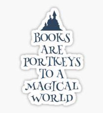 Books are portkeys Sticker