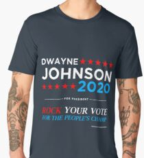 Vote The Rock 2020 President Dwayne Johnson Election (white) Men's Premium T-Shirt