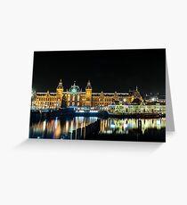 Amsterdam by Night Greeting Card