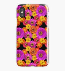Colorful Flowers on Black iPhone Case/Skin