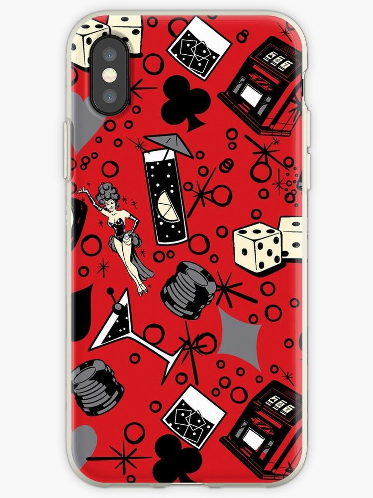 Viva Vegas Retro Casino Print - Red, Black and Gray by DriveIndustries