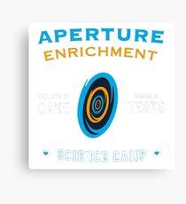 Portal Aperture Science Canvas Print