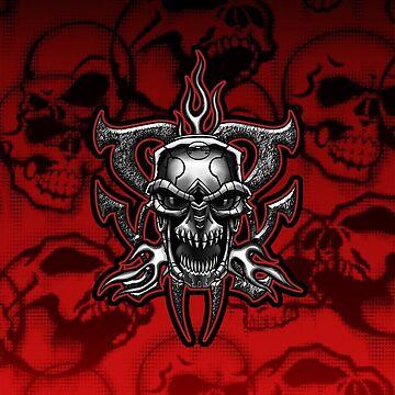 Terminator Skull Chrome Illustration by DriveIndustries