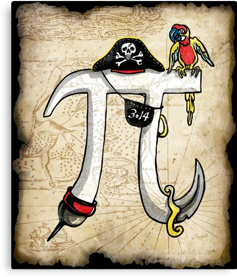 Pirate Pi Day Pi Rate Swashbuckling Pi Symbol Canvas Prints By