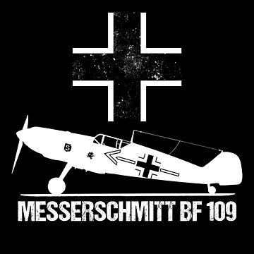 Messerschmitt BF109 Warbird T-Shirt ME109 German WW2 Military Aircraft by stearman