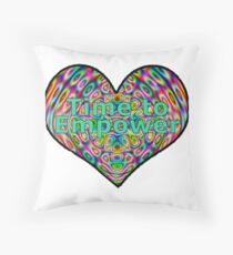 Time to Empower Throw Pillow