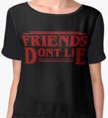 Stranger Things - Friends Don't Lie Women's Chiffon Top
