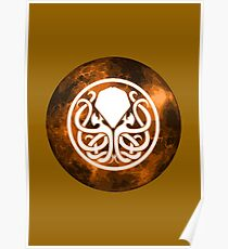 Cthulhu Symbol (copper version) Poster