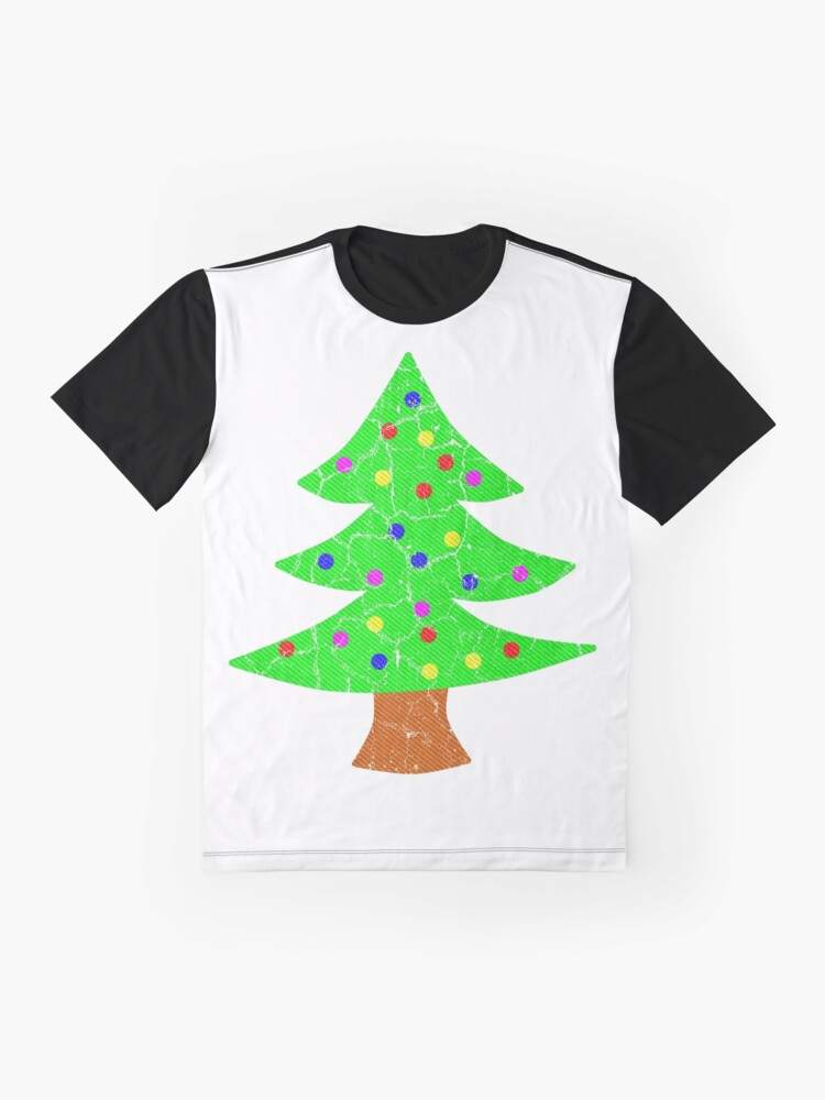 Alternate view of Christmas Holiday Tree Graphic T-Shirt