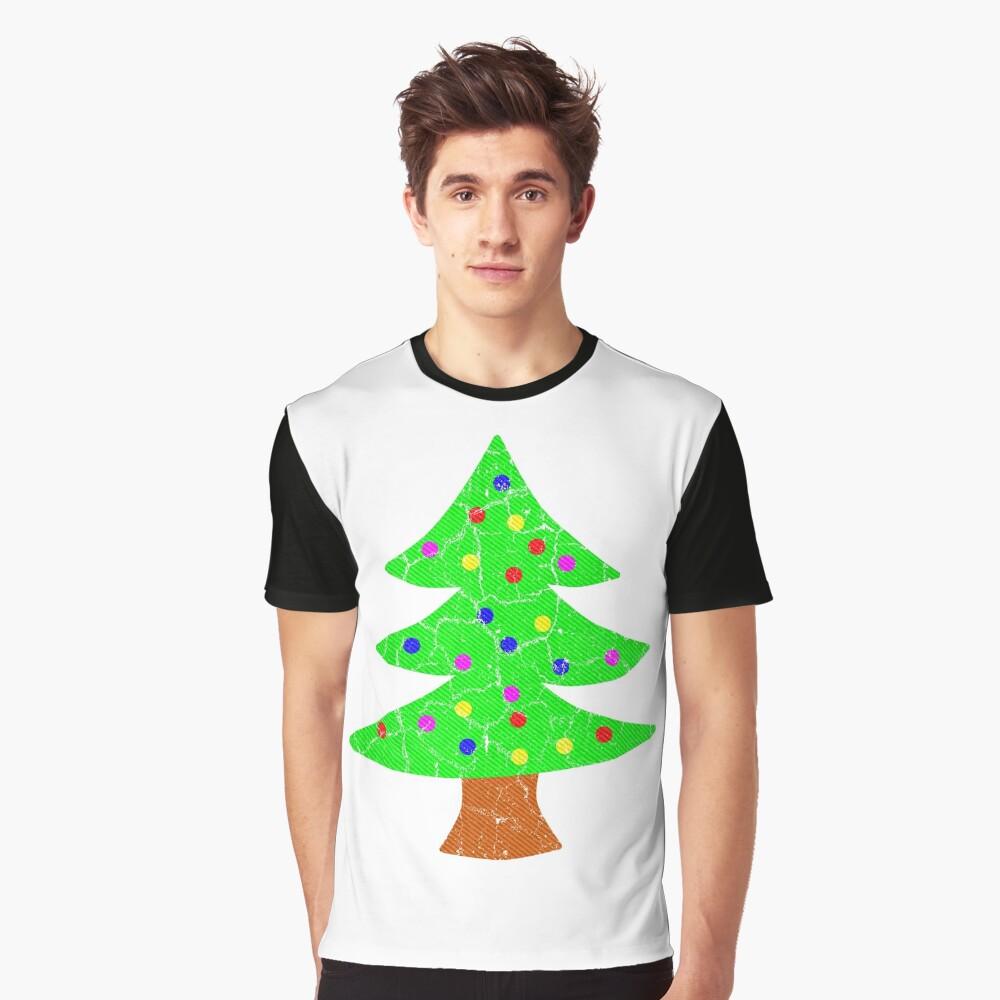 Christmas Holiday Tree Graphic T-Shirt
