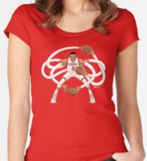 Mr. Triple Double Westbrook  Women's Fitted Scoop T-Shirt