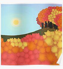 Digital [Simplistic] Painting: Autumn Trees Poster