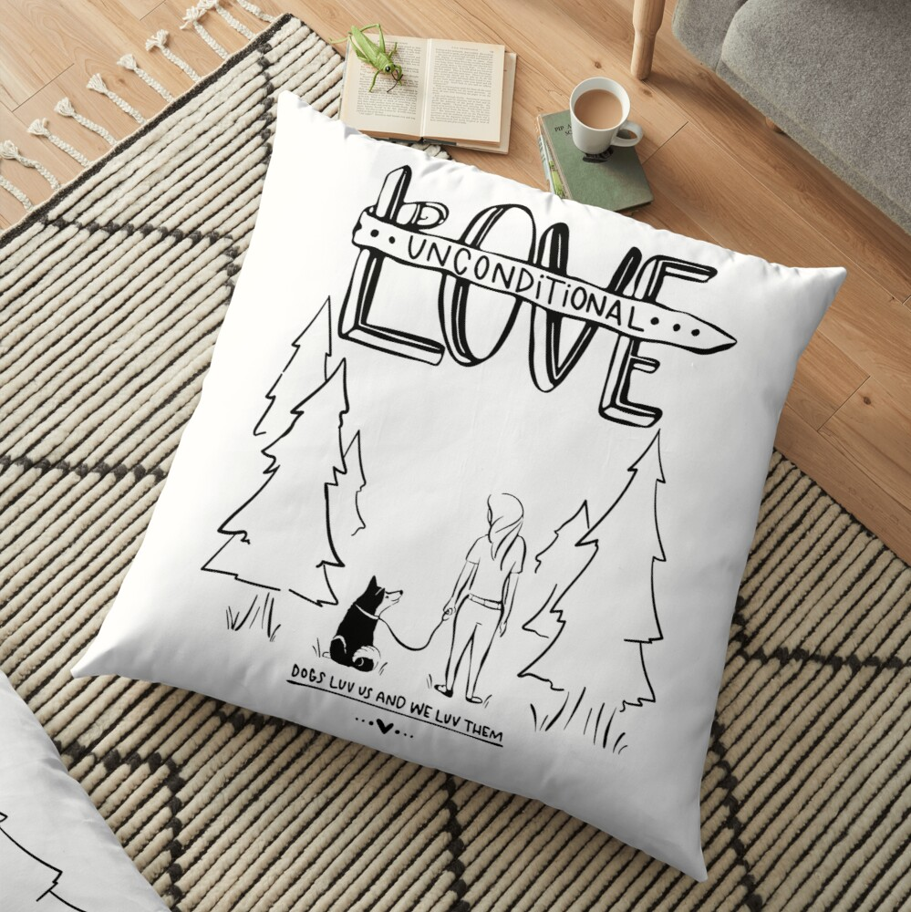 Dog Lovers With Style Floor Pillow
