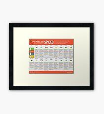 Cook Smarts' Guide to Flavoring with Spices Framed Print