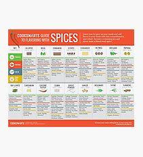 Lámina fotográfica Guía de Cook Smarts para aromatizar con especias