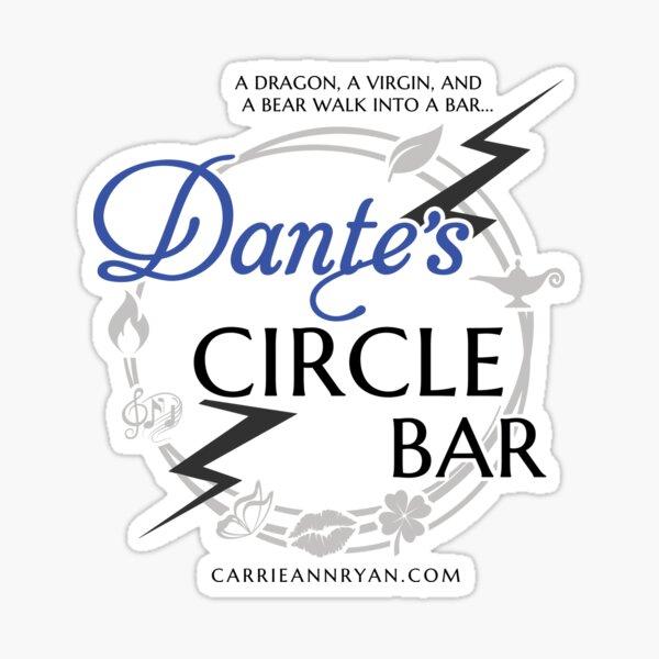 Dantes Circle Bar - A dragon, a virgin, and a bear walk into a bar... Sticker