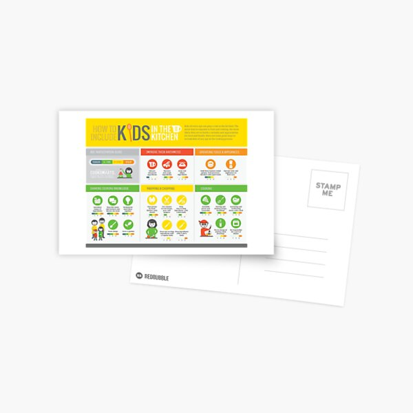 Cook Smarts' How to Involve Kids in the Kitchen Infographic Postcard
