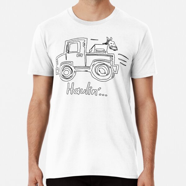 Haulin' Ass with a Donkey on a Truck Premium T-Shirt