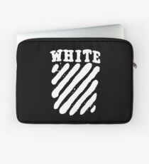 Off White Grunge Laptop Sleeve