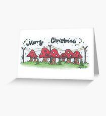 Christmas Mushrooms Greeting Card