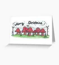 Christmas Mushrooms Greeting Card