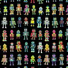 Robot Line-up on Black - fun pattern by Cecca Designs by Cecca-Designs