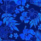 Kona Times Hibiscus Hawaiian Print - Royal by DriveIndustries