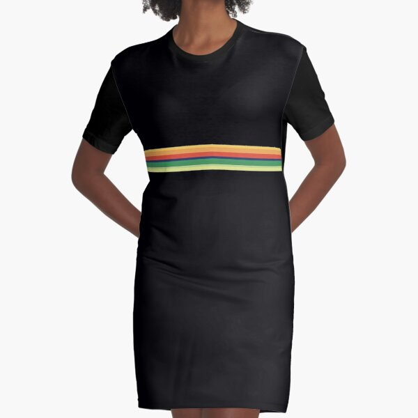 13th Doctor Who Striped Shirt Graphic T-Shirt Dress