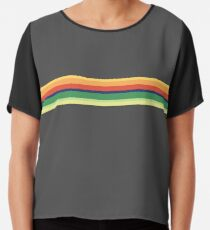 13th Doctor Who Striped Shirt Chiffon Top