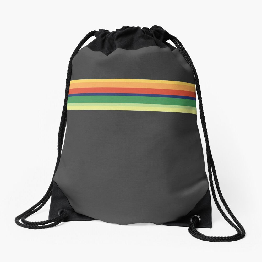 13th Doctor Who Striped Shirt Drawstring Bag