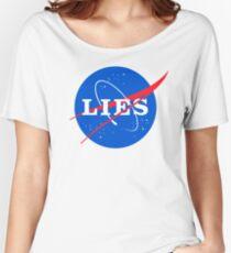 Camiseta ancha para mujer NASA LIES