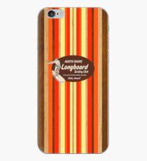 Pipeline Striped Hawaiian & Club Surfing Logo - Orange and Brown iPhone Case