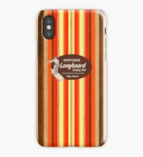 Pipeline Striped Hawaiian & Club Surfing Logo - Orange and Brown iPhone Case