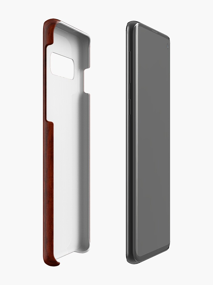 Vista alternativa de Funda y vinilo para Samsung Galaxy Tabla de surf hawaiana Tiki Ailani Faux Koa Wood