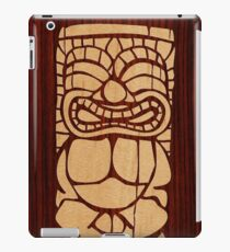Tiki Ailani Faux Koa Holz Hawaii Surfbrett iPad-Hülle & Klebefolie