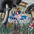 Temptation of Alice in Wonderland by Heather Sweet-Moon
