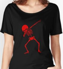 Red Dab Skeleton Women's Relaxed Fit T-Shirt
