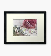 Watercolor- The Creation of Adam Framed Print