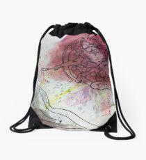 Watercolor- The Creation of Adam Drawstring Bag