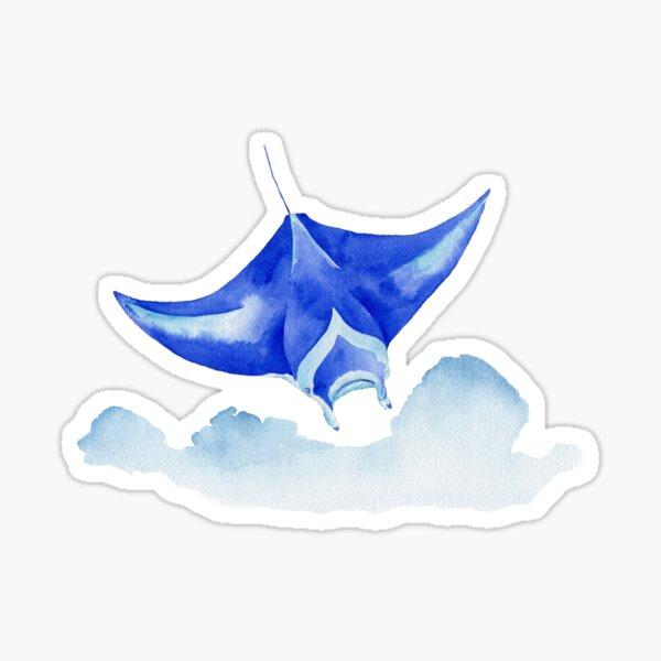 Manta ray soaring Sticker