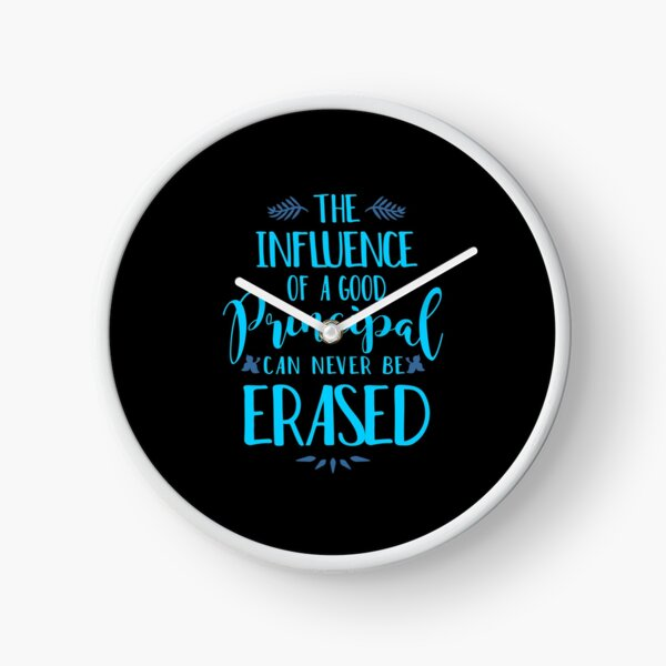 Influence of a Principal Can Never be Erased Clock