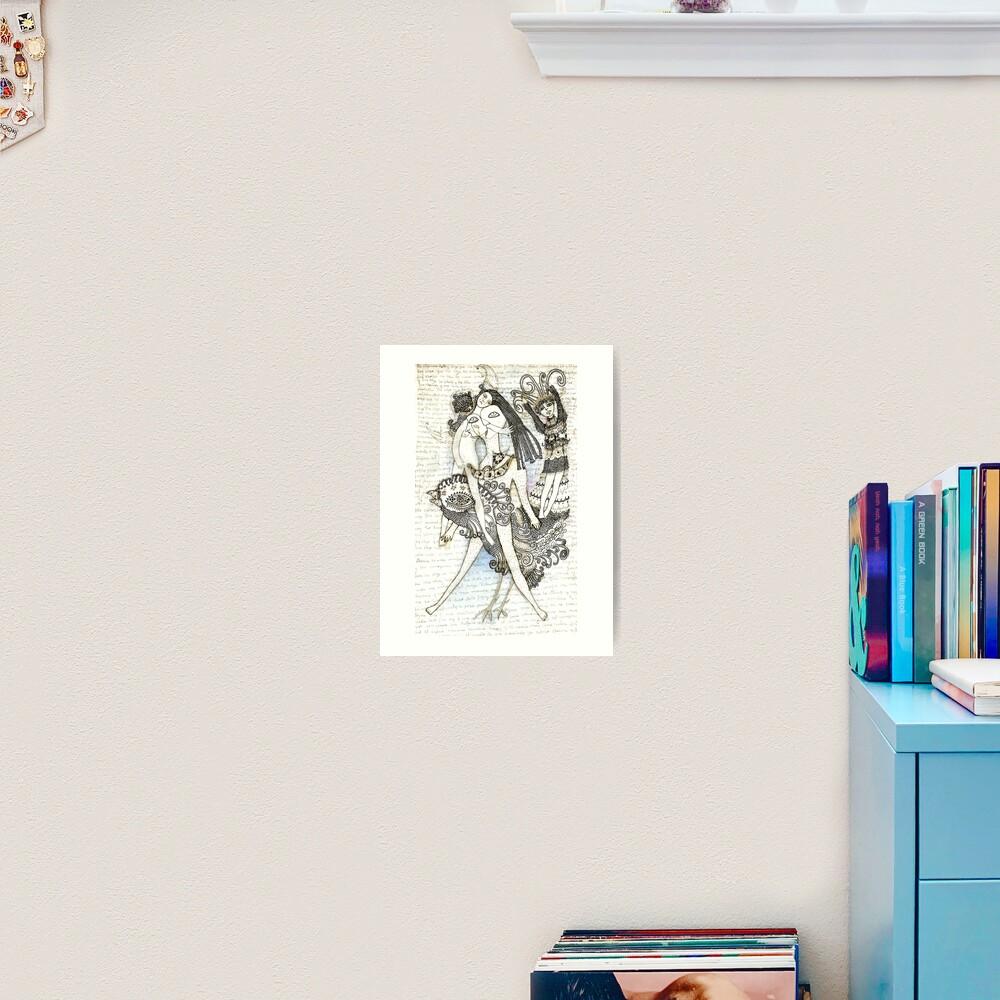 Poesía al abismo Art Print