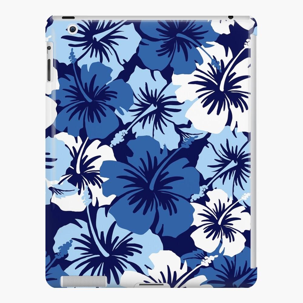 Epic Hibiscus Hawaiian Floral Aloha Shirt Print Blue Ipad Case