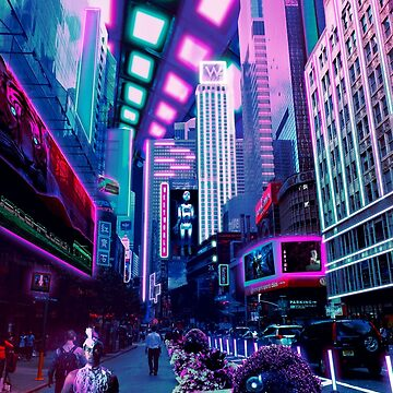 Futuristic imaginary New York City by Cybercitypunk