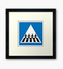 The Beatles Abbey Road Crosswalk Framed Print