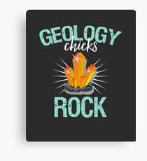 Geology Chicks Rock Canvas Print