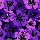 Epic Hibiscus Hawaiian Floral Aloha Shirt Print - Purple by DriveIndustries