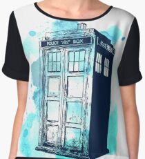 Inked up Tardis Women's Chiffon Top
