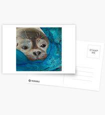 Seal Just a Peek Postcards