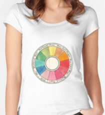 Colour wheel Women's Fitted Scoop T-Shirt